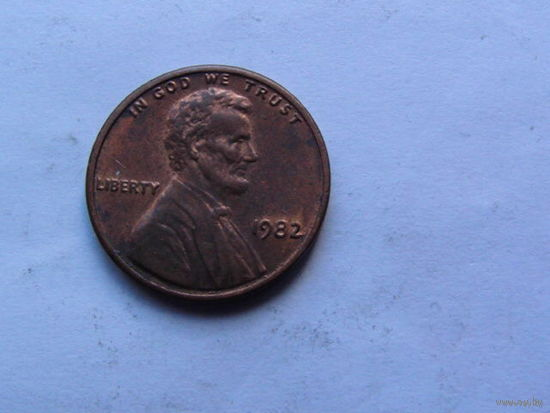 США 1 цент 1982г.  распродажа