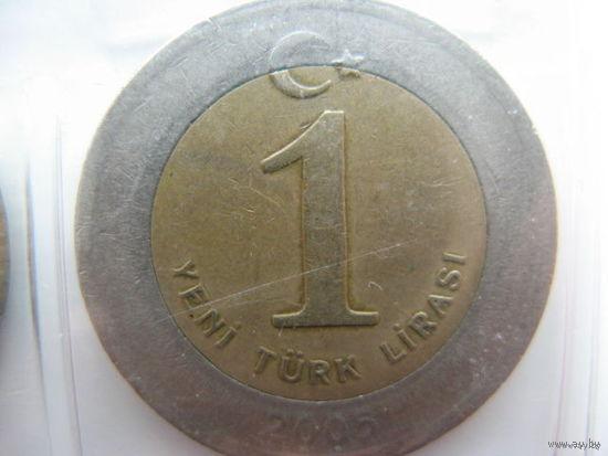 Турция 1 лира 2005 г.