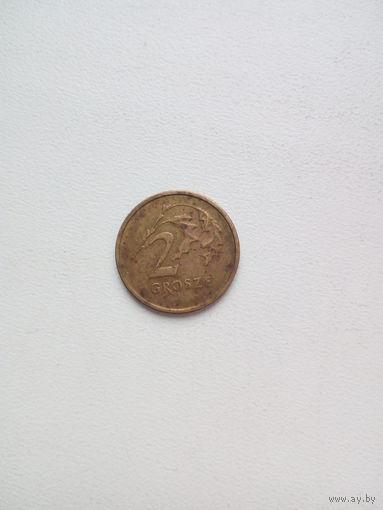 2 гроша 2001г. Польша