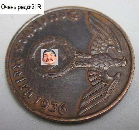 Германия. 1 рейхспфенниг 1936 F . 1а-34