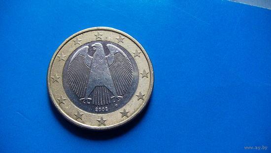Германия 1 евро  2002г. D  распродажа