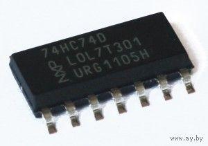 74HC74D (((Цена указана за 7 шт))) NXP. Два D триггера с установкой и сбросом. Двойной Триггер D-типа. 74HC74 (аналог 1564ТМ2 КР1564ТМ2)