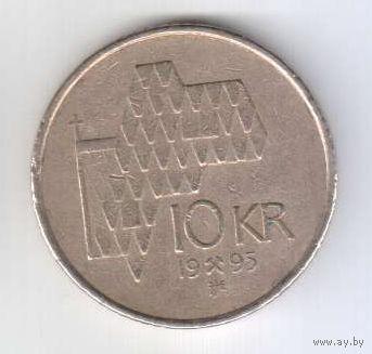 РАСПРОДАЖА_Норвегия - 10 крон 1995_km457