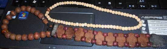 Четки деревянные многоконфессионные 2 шт. разные