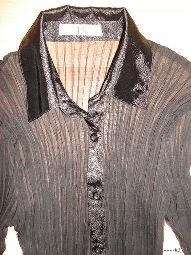 Новая полупрозрачная блузка черного цвета