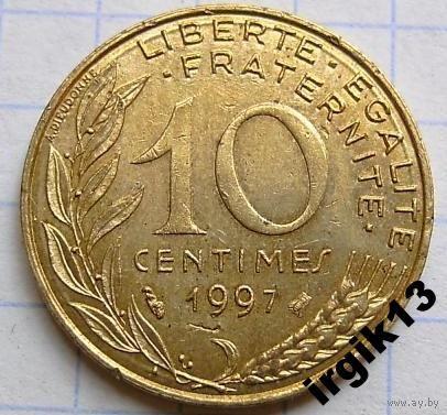 10 сантимов 1997 г. Франция.