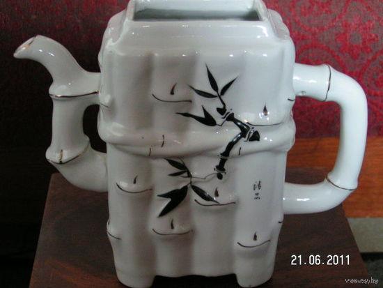 "Чайник-заварник и сахарница ""бамбук"" китай."