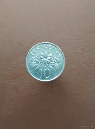 Сингапур / 10 cents / 1990 год