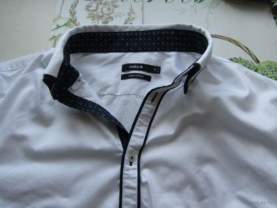 К 23 февраля вся одежда для мужчин по 2.30 ! Успейте купить .Рубашка  белая Celio Р-р 46
