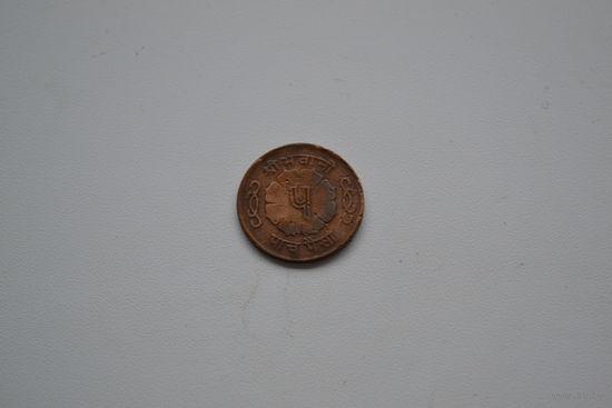 Непал  5 пайса середина 20 век диаметр больше