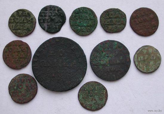 Монеты Петра 1.