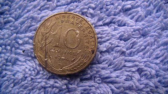 Франция 10 сантимов 1984г. распродажа