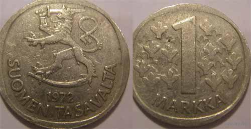 Финляндия. 1 марка  1989г.   распродажа