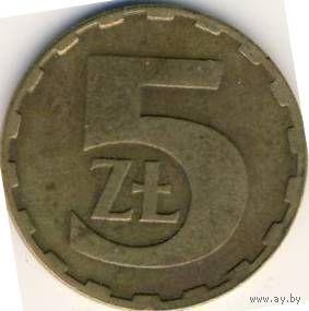 Польша 5 злотых 1986г.   распродажа