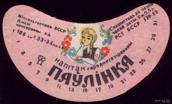 Этикетка Напиток Паўлінка Пинск