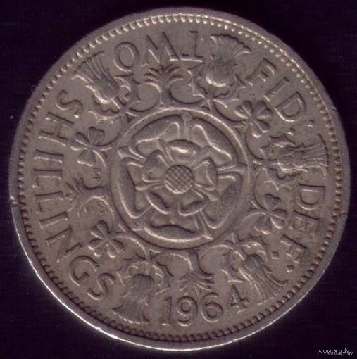 2 шиллинга 1964 год Великобритания