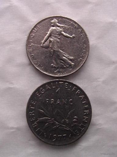 1 франк франции 1977г.  распродажа 6