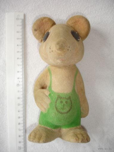 Мягкая игрушка винтаж Мышь мышка флокс 80-е гг