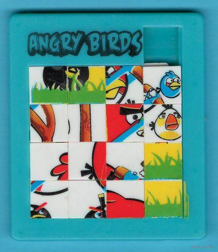 W: Пятнашки Angry Birds, размер 80 х 68 мм, Б/У