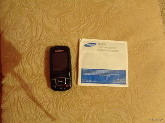 Мобильный телефон Samsung SGH-C300. Слайдер.