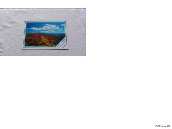 Почтовая карточка италии.  Blue Ridge Parkwai.  распродажа