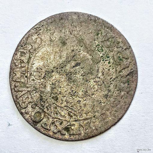 6 грошей1667г серебро . Яна Казимира с  рубля