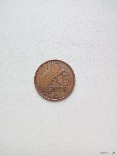 5 центов 1995г. Тринидад и Тобаго