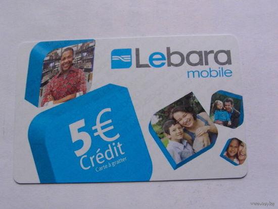 Франция телефонная карточка 5 евро. Lebara mobile No2   распродажа