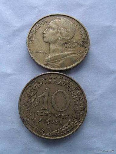 Франция 10 сантимов 1973г. распродажа