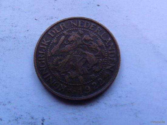 Нидерланды 1 цент 1922г No1   распродажа
