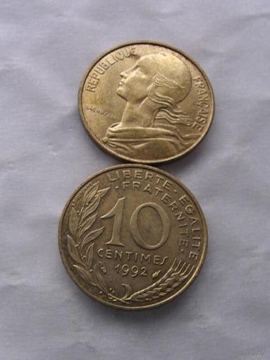 Франция 10 сантимов 1998г. распродажа