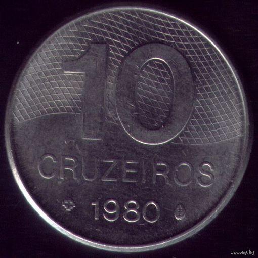10 Крузейро 1980 год Бразилия