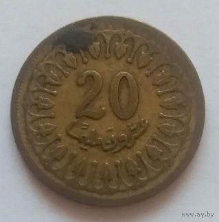 Тунис, 20 миллимов 1960 год