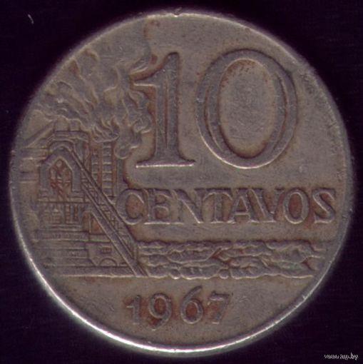 10 сентаво 1967 год Бразилия