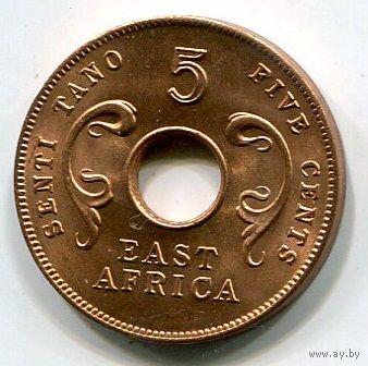ВОСТОЧНАЯ АФРИКА - 5 ЦЕНТОВ 1964