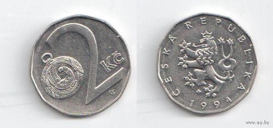Чехия. 2 кроны 1994 года.