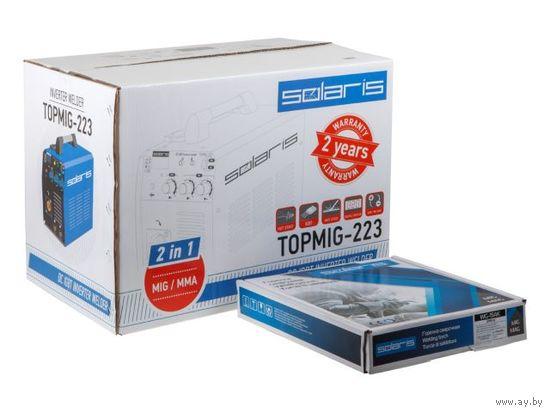Полуавтомат сварочный Solaris TOPMIG-223 (MIG-MAG/FLUX/MMA) с горелкой 3м (TOPMIG-223WG3)