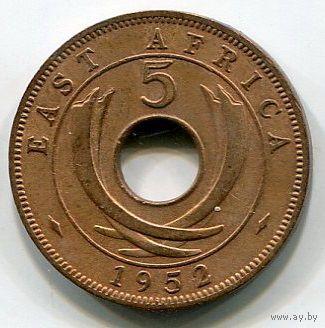 ВОСТОЧНАЯ АФРИКА - 5 ЦЕНТОВ 1952