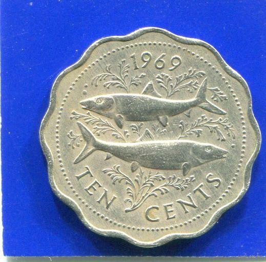 Багамские острова . Багамы 10 центов 1969