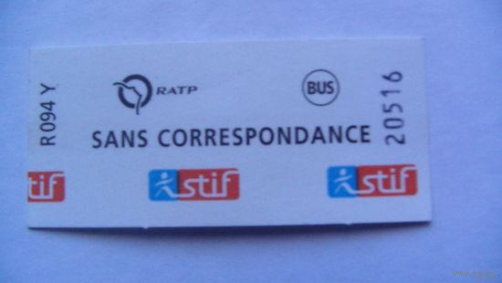 Билет Францыя SANS CORRESPONDANCE. распродажа