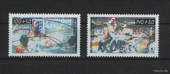 Западный Берлин 1990 г. Mi N 864-865** Спорт