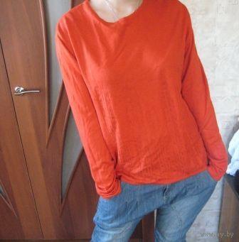 Оранжевый джемпер р.50