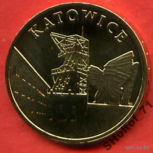 2 злотых 2010 Katowice.   распродажа