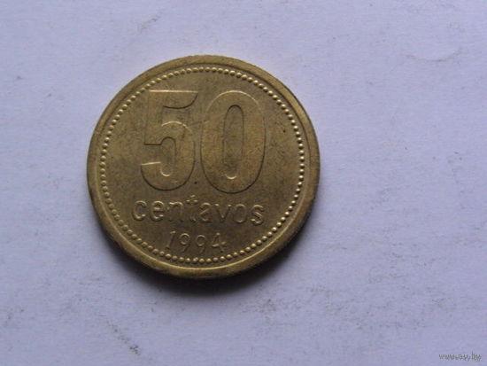 Аргентина 50 центаво 1994г.   распродажа