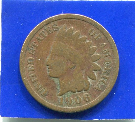 США 1 цент 1906 , INDIAN HEAD