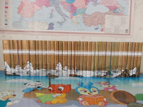 ЗОЛОТАЯ КОЛЛЕКЦИЯ ДЛЯ ЮНОШЕСТВА. 34 тома. НАЗВАНИЯ КНИГ НА ФОТО.