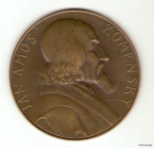 Настольная медаль JAN AMOS KOMENSKY.