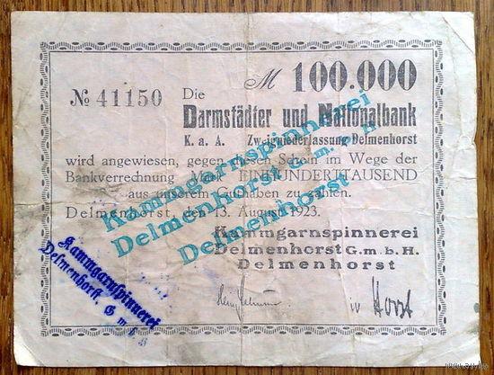 100.000 марок 1923г. Дельменхорст