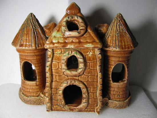 Декор для аквариума. Замок (керамика). размер 205 х 95 х 175 мм