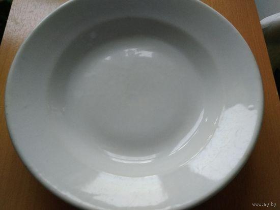 Тарелка для вторых блюд, Вермахт, III Рейх, Rhenania Duisdorf. 1938-1940 г. Диаметр 23,7 см. ТОРГИ С 1 РУБЛЯ! МЦ.